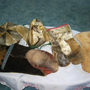 Sealskin items made by Ruby Cabot. Photo: Gertie Fowler