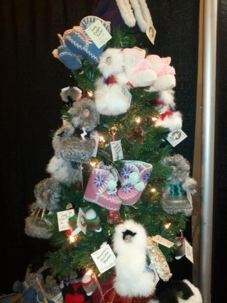 Small items from Labrador Traditions booth displayed on a Christmas Tree. Photo: CCNL